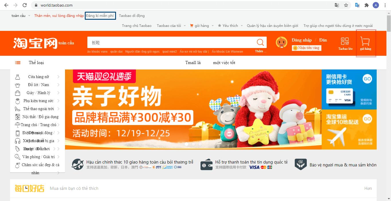 Cách mua hàng trên taobao bằng Tiếng Việt như thế nào?